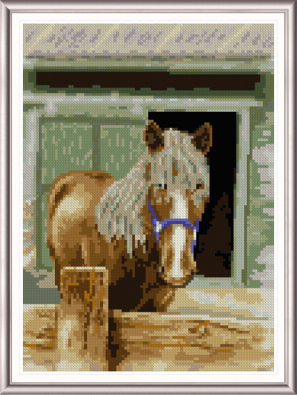 cross stitch pattern Misty