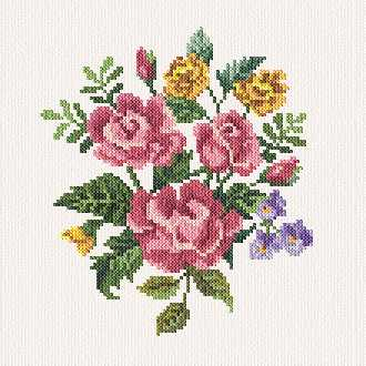 cross stitch pattern Alyssa`s Flowers