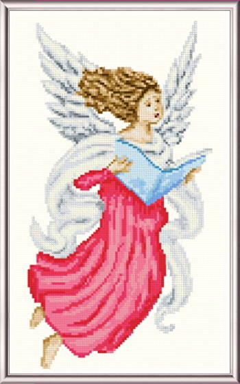 cross stitch pattern Singing Angel