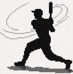 cross stitch pattern Batter Up