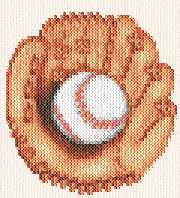 cross stitch pattern Ball and Glove