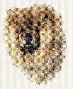 cross stitch pattern Chow chow
