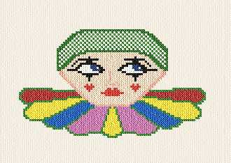 cross stitch pattern Clown - free pattern!