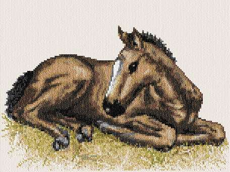 cross stitch pattern Dancer (colt)