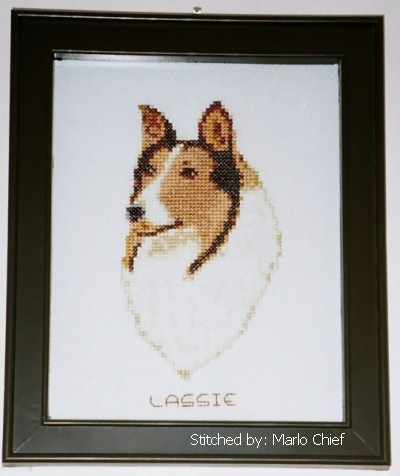 cross stitch pattern Collie (small)