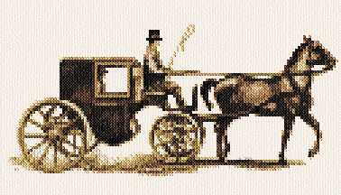 cross stitch pattern Carriage