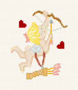 cross stitch cupid
