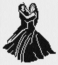 cross stitch pattern Dancers