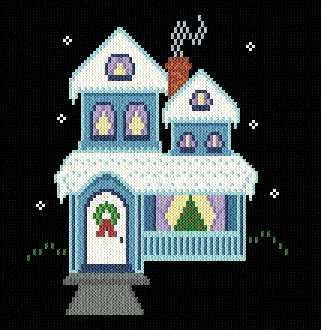 cross stitch pattern Home for the Holidays