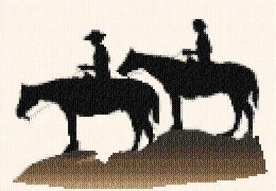 cross stitch pattern Horses
