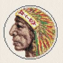 cross stitch pattern Native Indian