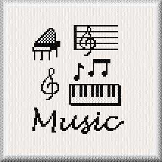 cross stitch pattern Music