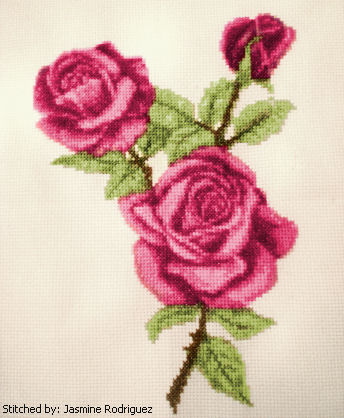 cross stitch pattern Roses