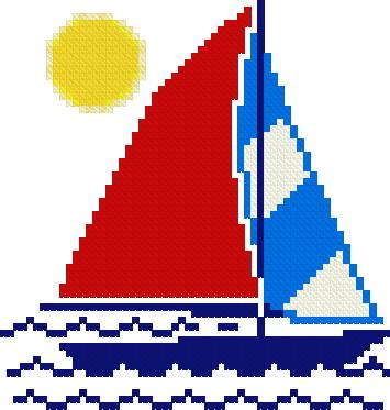 Sailboat - free pattern Cross Stitch Pattern new