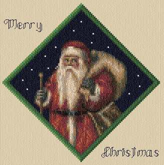 cross stitch pattern Saint Nick