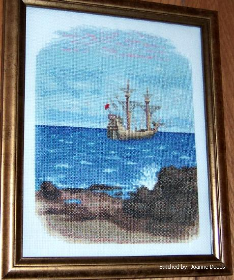 cross stitch pattern New World Explorers