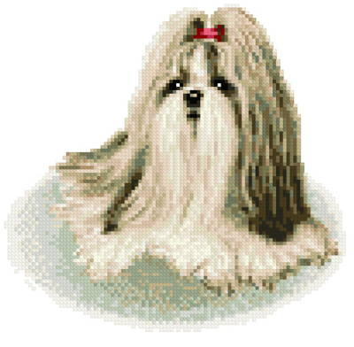 shih tzu cross stitch