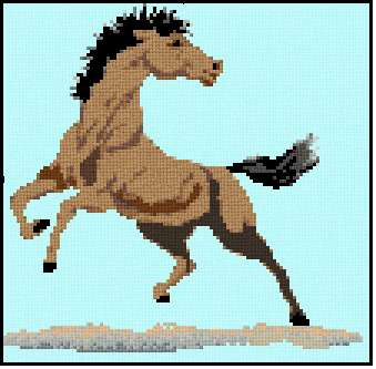 cross stitch pattern Stallion