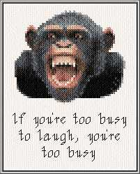 cross stitch pattern Chimp