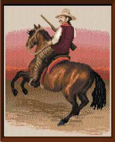 cross stitch pattern Cowboy