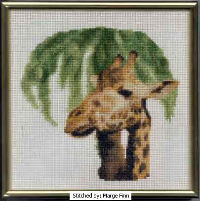 cross stitch pattern Giraffe