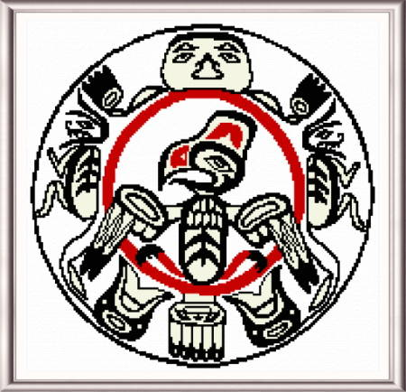 cross stitch pattern Haida Drum