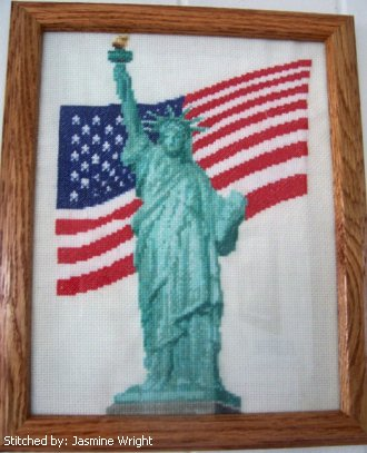cross stitch pattern Liberty