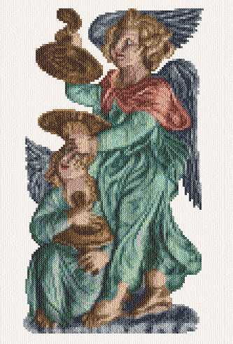 cross stitch pattern Musician Angels