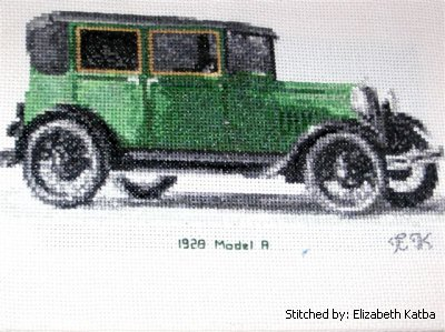 cross stitch pattern 1928 Model A