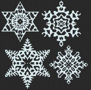 cross stitch pattern Snowflakes 1