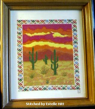 cross stitch pattern Southwest Sunset