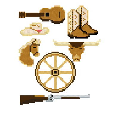 cross stitch pattern Western Theme