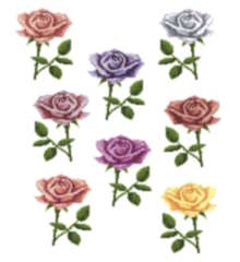 cross stitch pattern One Rose