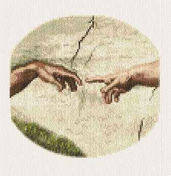 Creation of Adam Cross Stitch Pattern religious