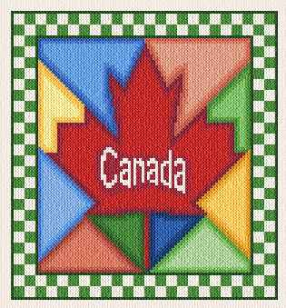 cross stitch pattern Canada Quilt