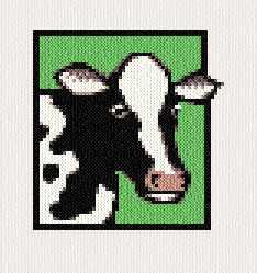 Cow Cross Stitch Pattern Small