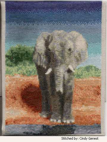 Elephant Cross Stitch Pattern Elephant