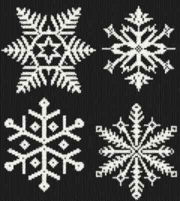 cross stitch pattern Snowflakes 2