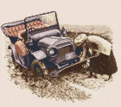 cross stitch pattern Sunday Drive
