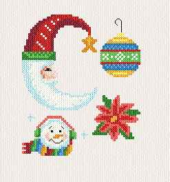 cross stitch pattern Small Christmas Designs