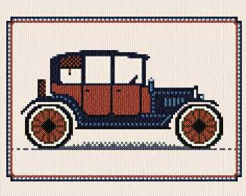 cross stitch pattern Antique Car