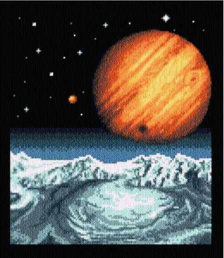 cross stitch pattern Alien Worlds