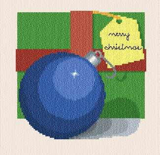 cross stitch pattern Christmas ball