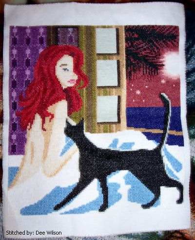 cross stitch pattern Moonlit Night