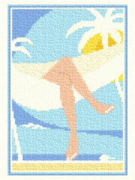 cross stitch pattern Tropical Holiday