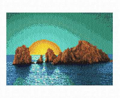 cross stitch pattern Pacific Sunset