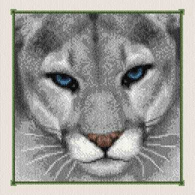 cross stitch pattern Grey Puma