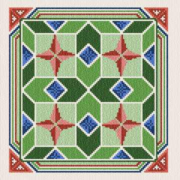 cross stitch pattern Colonial Quilt