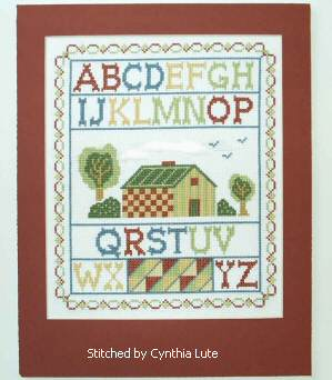 cross stitch pattern Country Sampler