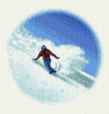 cross stitch pattern Snow Boarder